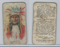 V118 Ganong Bros., Big Chiefs, Indians, 1939, #3 Clam Fish, Warm Springs