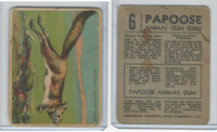 V255 Canada Chewing Gum, Papoose Animal Gum, 1935, #6 African Jump Hare