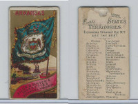 N11 Allen & Ginter, Flags of the States, 1888, Arkansas