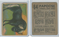 V255 Canada Chewing Gum, Papoose Animal Gum, 1935, #64 Wildebeest