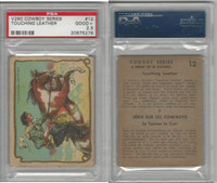 V290 Hamilton, Cowboy Series, 1930's, #12 Touching Leather, PSA 2.5 Good+