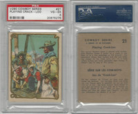 V290 Hamilton, Cowboy Series, 1930's, #21 Playing Crack-Loo, PSA 4 VGEX