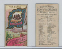 N11 Allen & Ginter, Flags of the States, 1888, New Mexico