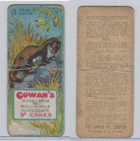 V2 Cowan, Animal Cards, 1920's, #23 Weasel, Royal Milk Chocolate