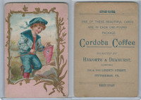 K Card, Cordoba Coffee, 1890's, Boy With Butterfly Net