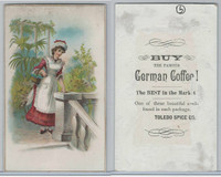 K Card, Toledo Spice, 1890's, Woman In Garden