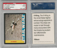 1977 Wonder Bread, Star Wars, #15 X-Wing, PSA 9 Mint