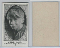 W585, Movie Stars, Blank Backed, 1921, #3 Wesley Barry