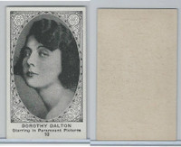W585, Movie Stars, Blank Backed, 1921, #10 Dorothy Dalton