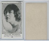 W585, Movie Stars, Blank Backed, 1921, #28 Pauline Frederick