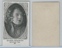W585, Movie Stars, Blank Backed, 1921, #35 Eileen Sedgewick