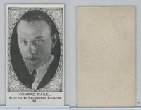 W585, Movie Stars, Blank Backed, 1921, #44 Conrad Nagel