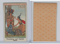 W Card, Mayfair Novelty, American History, 1919, 1608 Pocahontas & Cap Smith