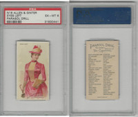 N18 Allen & Ginter, Parasol Drill, 1888, Eyes Left, PSA 6 EXMT