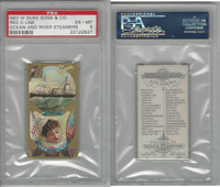 N83 Duke, Ocean And River Steamers, 1887, Red D Line, PSA 6 EXMT