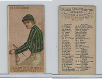 N22 Allen & Ginter, Racing Colors of the World, 1888, HRH Duke Connaught