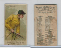 N22 Allen & Ginter, Racing Colors of the World, 1888, Duke Of Westminster