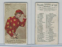 N22 Allen & Ginter, Racing Colors of the World, 1888, F. Gebhard