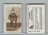 1949 Topps, Magic Photos, Boxing Champions, A #7 Jess Willard