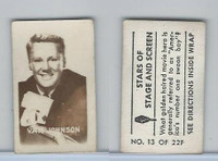 1949 Topps, Magic Photos, Stars of Stage & Screen, F #13 Van Johnson