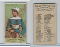 N22 Allen & Ginter, Racing Colors of the World, 1888, Chaevalier Ginistrelli