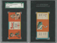 1949 Topps, Funny Foldees, #40 Bicycling, Swimmer, Goose, SGC 86 NM+