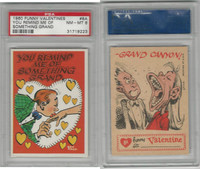 1960 Topps, Funny Valentines, #8A You Remind Me, PSA 8 NMMT