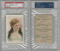 N111 Duke, Gems Of Beauty, 1884, Curly Blonde, White Dress, PSA 7 NM