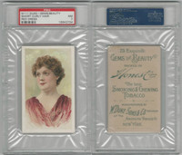 N111 Duke, Gems Of Beauty, 1884, Short Curly, Red Dress, PSA 7 NM