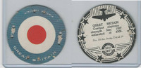 M30 St. Louis Globe, Seal Craft Disc, 1930's, Aircraft Ins., #15 Great Britain