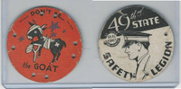 M30 St. Louis Globe, Seal Craft Disc, 1930's, Safety, Don't Be The Goat