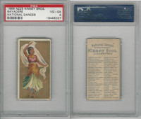 N225 Kinney, National Dances, 1889, Bayadere, East Indain, PSA 4 VGEX