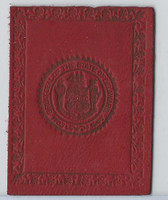 L23 American Tobacco Leather, State Seals, 1912, Delaware (Red)