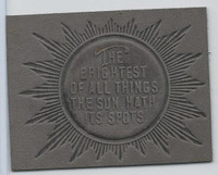 L24 ATC Leather, Mottoes & Quotes, 1912, The Brightest Of All Things (Gray)