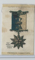 S16 ATC Silk, Military & Lodge Medals, 1910, Past Regent Order Sparta