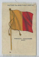 S33 American Tobacco Silk, National Flags, 1910, French Colonies East