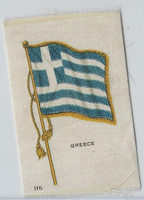 S33 American Tobacco Silk, National Flags, 1910, Greece