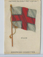 S33 American Tobacco Silk, National Flags, 1910, Milan