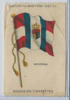 S33 American Tobacco Silk, National Flags, 1910, Modena