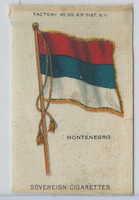 S33 American Tobacco Silk, National Flags, 1910, Montenegro