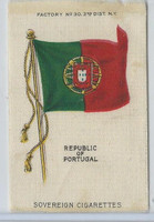 S33 American Tobacco Silk, National Flags, 1910, Portugal