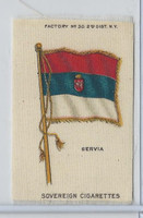 S33 American Tobacco Silk, National Flags, 1910, Servia