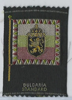 S39-1 American Tobacco Silk, Flags & Arms, 1910, Bulgaria Standard