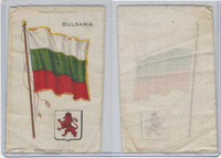 S35 American Tobacco Silk, Flags & Arms, 1910, Bulgaria (3 X 5 in)