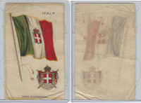 S35 American Tobacco Silk, Flags & Arms, 1910, Italy (3 X 5 in)