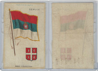 S35 American Tobacco Silk, Flags & Arms, 1910, Servia (3 X 5 in)