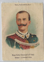 S79 ATC Silk, Rulers Balkens & Italy, 1910, King Victor Emanuel, Italy
