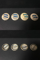 P6 American Tobacco Pins, National Flag, 1898, Argentina, 4 Different