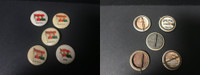 P6 American Tobacco Pins, National Flag, 1898, Austria, 5 Different