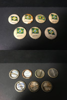 P6 American Tobacco Pins, National Flag, 1898, Brazil, 7 Different